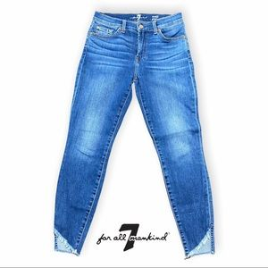 7 For All Mankind Ankle Gwenevere Blue Jeans